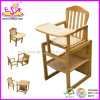 Baby Dining High Chair for Safey Baby, Wooden Toy Baby High Chair, Comfortable Baby Wooden Dining Chair Wj278315