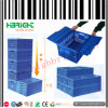 Plastic Folding Box Stackable Moving Container with Hinged Lid