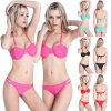 Women Halter Triangle Padded Bikini Top Bottom Set Swimwear Swimsuit