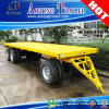 2 Axles Full Type Container Flatbed Draw Bar Trailer