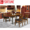 Most Popular Wood Leather Design Restaurant Dining Table Chairs for Sale (FOH-BCA09)