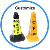High Quality Reflective PVC Plastic Car Parking Safety Traffic Cone