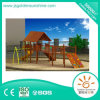 Outdoor Playground Wooden House Combine Slide Swing and Climing Part