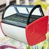 Commercial Ice Cream Freezer Display Showcase Electric Ice Cream Display Freezer Free Standing Ice Cream Display