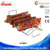 Holding Rib Slabs Firmly Metal BBQ Wire Rib Rack