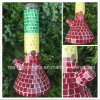 12 Inch Beaker Glass Smoking Water Pipes with Mosaic Rasta Colors