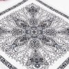 Artifical Silk Big Square Scarf / Polyester Satin with Paisley (Hz99)