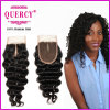 Virgin Remy Hair Middle Part Deep Wave Lace Closure Silk Lace Top Closure
