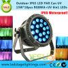 LED Stage Light/IP65 LED PAR Can RGBWA+UV