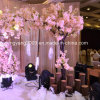 Pink Silk Cloth Blossom Arch Tree for Decoration