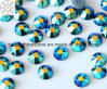 2018 Non Hot Fix 5A Grade 16 Facets and High Degree of Refraction Rhinestone for Garment Nail Art (TP-5A grade sky blue ab)