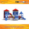 114mm Galvanized Post Colourful Luxurious Two Layers of Deck and Rotating Tube Slide Children Outdoor Playground Equipment