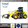 Chinese Titan Brand Chinese Zl20f 2ton Articulated 2000kg Avant Mini Small Hydraulic Ce Tractor Front End Wheel Loader for Sale