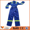 Factory Long Sleeve Anti Static Blue Color Cotton Safety Coverall and Suit with Reflective Tape Working Clothes Coveralls China Manufacturer