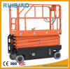 9meter Man Operation Mobile Scissors Lift for Airport and Service Station