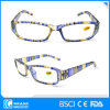 Fashion Bright Light Clear Lens Slim Plastic Reading Glasses