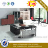2016 Glass Top Office Furniture L Shape Executive Office Table (NS-ND142)