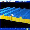 Eco-Friendly Sandwich Wall Panel Roof Panel Made of PPGI Steel Sheet and Rockwool Glasswool Heat Insulation Material