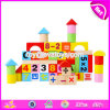 Wholesale Customize 50 Pieces Baby Preschool Wooden Math Cubes for Education W13b032