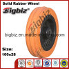 Replacement 100X28 Rubber Caster Wheel for Trolly
