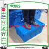 Plastic Turnover Storage Box with Hinged Lids
