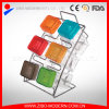 Colored Plastic Lid Glass Condiment Set