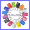 Color Mini Travel Luggage Tsa Customs Lock Resettable 3 Digit Combination Padlock Password Suitcase (TSA-01)