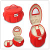 Enchanting Red Ture Leather Jewelry Storage Box