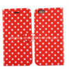Polka Dots PU Leather Case for iPhone 6
