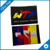 End Fold Taekwondo Logo Woven Label for Uniform Clothing