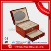 High Gloss Handmade Wooden Jewelry Box with Window and Drawer