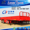 3 Axles 40ton-70t Bulk Cargo Semi Trailer, Side Boards Flatbed Semi Trailer, Flatbed with Side Wall, Open Side Board Cargo Semi Trailer, Sidewall Semi Trailer