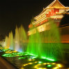 Restaurant Music Dancing Fountain with Colorful Lighting Outdoor in Square