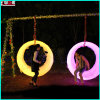 Modern Illuminating LED Outdoor Patio Park Swings Trapeze with LEDs