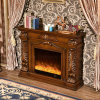 Hotel Furniture European LED Lights Electric Fireplace with Heater (327B)