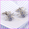 Blue Rhinestone Spider Sharp Men′s Cuff Links