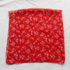 Polyester Cotton Voile Small Square Scarf Red