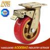 Heavy Duty Double Brake PU Caster Wheel