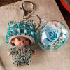 Preserved Flower Keychain for Decoration
