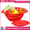 Silicone Collapsible Colander Foldable Silicone Fruit Strainer