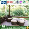 Leisure Furniture PE Rattan Furniture Round Sofa Round Ottoman (TG-JW20)