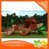 2017 Newest Design Wooden House Style Outdoor Plastic Slide for Children
