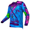 Blue New Fashionable Custom Professional Sublimation Racing Jersey (MAT55)