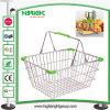 25L Metal Wire Stackable Shopping Basket