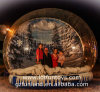 Giant Human Inflatable Christmas / Xmas Snow Globe with Backdrop for Decoration & Promotion