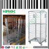 Warehouse Foldable Trolley Cart Zinc Roll Container