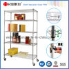 NSF Approval Metro Standard Chrome Metal Wire Shelving with 250kg Per Shelf