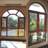 Aluminum Arc Window with Wooden Color
