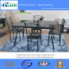 Glass and Metal Dining Table (RX-C1003)