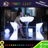 Illuminated LED Bar Table with Glass